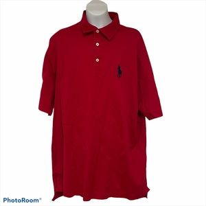 Polo big pony red rugby polo golf size large